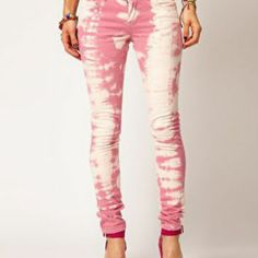 ASOS Skinny Jean In Over Bleached Pink.