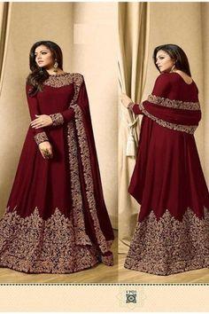 Royal Blue Color, Maroon Color, Designer Anarkali Dresses, Designer Dresses, Gown Style Dress, Floor Length Anarkali, Indian Gowns Dresses, Special Occasion Outfits, Beautiful Saree