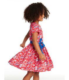 Robe fille imprimée rouge Peps   blanc Multico. Retrouvez notre gamme de  vêtements et sous-vêtements pour bébé 5ef35de215f