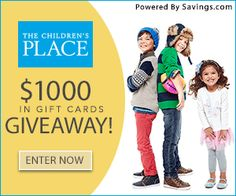 Enter to Win a $25 The Children's Place Gift Card! (40 winners)