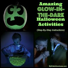 Glow in the dark science projects: this Halloween let your kids astonish your neighbors and astound trick-or-treaters with glowing activities that are perfect for entertaining.