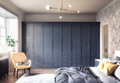 Classic Blue Elise fitted bedroom from My Fitted Bedroom. Pantone colour of the year Classic Blue home interior inspiration. Bedroom Built In Wardrobe, Closet Bedroom, Bedroom Storage, Bedroom Decor, Closet Built Ins, Bedroom Ideas, Fitted Bedrooms, Fitted Bedroom Wardrobes, Modern Fitted Wardrobes