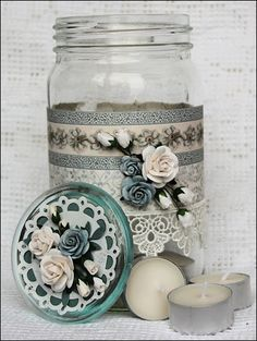 decorated jar - so pretty