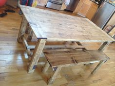 6 ft farmhouse rustic dining room table by TheKnottedTable, $475.00