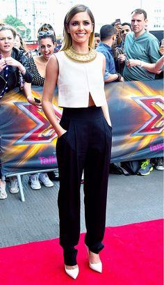 WHO: Cheryl Cole WHAT: London X Factor auditions. WEAR: Jil Sander top; Temperley London pants.