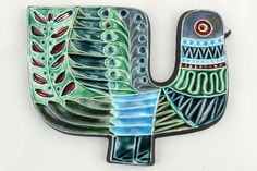 a Poole pottery bird wall plaque by Robert Jefferson. 1950's 1960's English in Pottery, Porcelain & Glass, Pottery, Poole   eBay