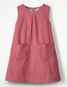 Novelty Pocket Cord Pinafore Dresses at Boden Kids Dress Wear, Little Girl Outfits, Little Girl Fashion, Toddler Girl Dresses, Kids Fashion, Baby Frocks Designs, Kids Frocks Design, Cord Pinafore Dress, Pinafore Pattern
