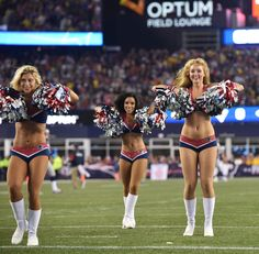 The New England Patriots Cheerleaders performed during the regular season game against the Pittsburgh Steelers on Thursday, September 10, 2015.