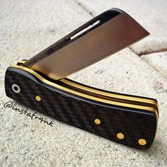 "K'roo knives slipjoint | Custom slipjoint knife ""chunky Fran… 