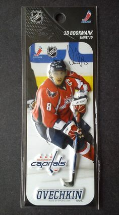 NHL Hockey PPOPZ Washington Capitals Ovechkin 3D Bookmark FREE SHIPPING