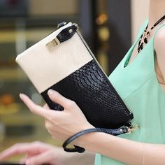 2015 New Fashion Casual Striped Soft Genuine Leather Women Day Clutches for Evening Party with 8 colours Tote Purse, Purse Wallet, Bags 2015, Evening Bags, Evening Party, Leather Purses, Pu Leather, Beautiful Bags, Ladies Day