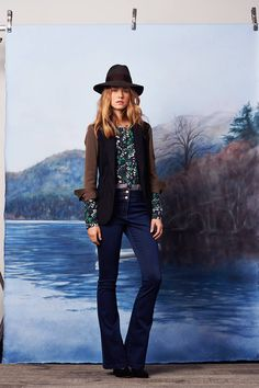 Veronica Beard Prefall 2015. This look is everything. Vest, trousers, cap, and button up.