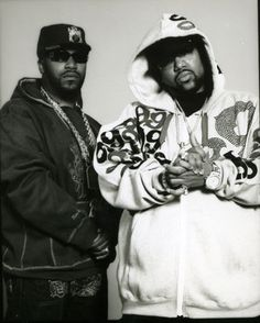 Rap Duo - The Underground Kings UGK. Bun B & Pimp C