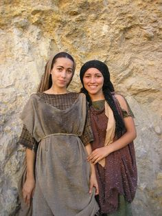 Two girl extras. On location in Tunisia, Sept 2006.