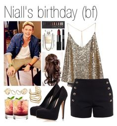 """Niall's birthday"" by mona-h0ran ❤ liked on Polyvore featuring Chloé, Carvela Kurt Geiger, SunaharA, Chanel, ASOS, NARS Cosmetics, Christian Dior and Forever 21"
