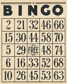 Collage Candy: Vintage Bingo cards and 10-cent tickets
