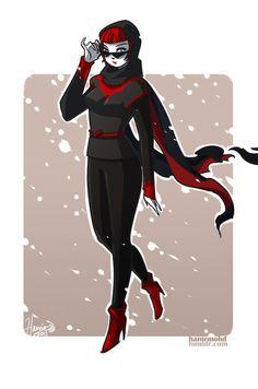 Batwoman II in Caplet Art Print by OniYon on Etsy, $5.00