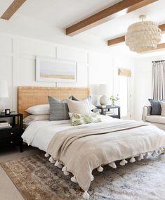 Studio Mcgee, Home Bedroom, Bedroom Decor, Lighting In Bedroom, Bedroom Ideas, Bedroom Inspo, Guest Bedrooms, Coastal Bedrooms, Master Bedrooms