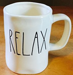 Rae Dunn/Magenta Relax Mug in Large Letters