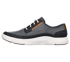 Skechers Men's Moogen Lodrino Memory Foam Lace Up Shoes (Navy) shoes casuales cómodos de vestir deportivos hermosos hombre mujer vans Sock Shoes, Men's Shoes, Dress Shoes, Shoes Sneakers, Memory Foam, Mens Vans Shoes, Best Shoes For Men, Shoes World, Lace Up Shoes