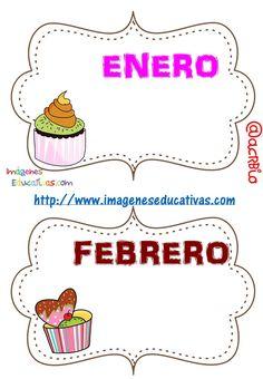 SGBlogosfera. María José Argüeso: CARTELES PARA CUMPLEAÑOS Birthday Calendar, Birthday Board, Birthday Month, School Frame, I School, Class Decoration, School Decorations, Teacher Hacks, Best Teacher