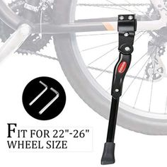 BICYCLE KICKSTAND W//PLATE CENTER MOUNT ADJUSTABLE ROAD MTB CRUISER CHOPPER
