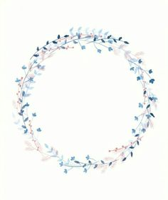 (notitle) - my floral obsession - Blumenkranz Wreath Watercolor, Watercolor Flowers, Watercolor Art, Watercolor Background, Drawing Hand, Vine Drawing, Deco Floral, Wreath Tutorial, Instagram Highlight Icons