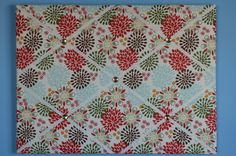 Flower french memo board, large,  earth tones, by two dot designs