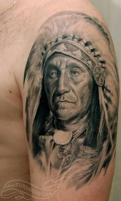 For tattoo lovers, here comes another idea of portrait of their loved ones inscribed on their skin. Here are best Portrait tattoo designs delineated for ideas. Indian Chief Tattoo, Cherokee Indian Tattoos, Native Indian Tattoos, American Indian Tattoos, Koi Tattoo Design, Indian Tattoo Design, Tattoo Designs, Tattoo Ideas, Native American Warrior Tattoos