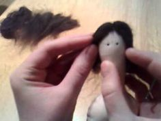 ▶ Hair tilda's doll. I do not speak the languages but the video speaks for her self  - YouTube