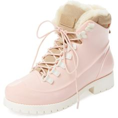 Australia Luxe Rubstep Lace-Up Boot (325 BRL) ❤ liked on Polyvore featuring shoes, boots, zapatos, flats, pink, lace up boots, pink flats, pink flat shoes, lace up flats and pink boots