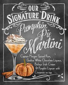 Autumn Signature Drink Signs Chalkboard Style by RockinChalk