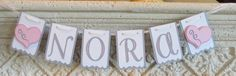 Baby girl name banner - custom order