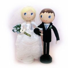 Bride and Groom Clothespin Dolls