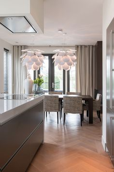 project Amstelveen the Netherlands- residence by Choc Studio Interior - dining room and kitchen. Photography by Denise Keus. Published in Stijlvol Wonen summer 2014