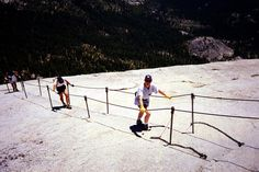 In my 30's I hiked to the top of Yosemite's  Half Dome like these three... I'd like to tackle it again in 2013!