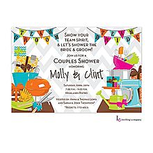 A team wedding shower invitation.so much more fun! Couples Shower Invitations, Birthday Party Invitations, Shower Party, Shower Gifts, Shower Time, Stationery Paper, Wedding Stationery, Team Groom, Cha Bar