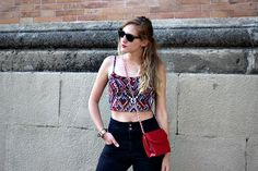 Check out this photo More Photos, Crop Tops, Check, Image, Women, Style, Fashion, Blue Prints, Swag
