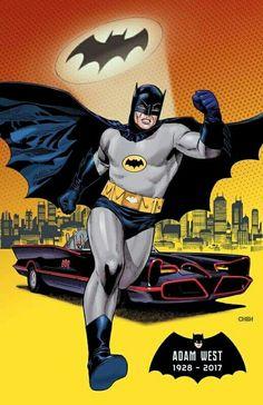 8/08/17  12:09a  DC Batman Goodbye Adam West Batman Y Robin, Batman And Batgirl, Batman Batmobile, Batman 1966, Batman Comics, Batman And Superman, Comic Kunst, Comic Art, Comic Book