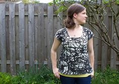 scoop top free pattern & tutorial by skirt_as_top, via Flickr