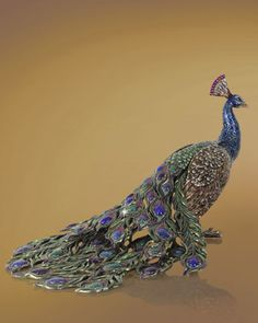 """Peacock"" Figurine - Neiman Marcus  by Jay Strongwater"