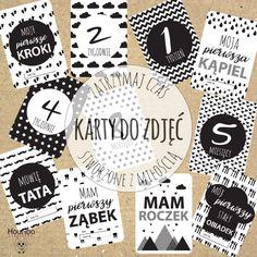 HooHoo Creations: Scandinavian - karty do zdjęć dla noworodka i mamy