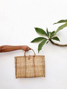 Wicker Basket Bag – WOVENFOLK Oyster Bed, Vintage Wardrobe, Indigo Dye, Basket Bag, Oysters, Straw Bag, Wicker, Baskets, Bags