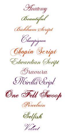 Elegant Scripts