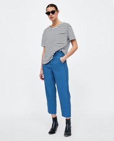 Image 1 of BASIC T-SHIRT WITH PATCH from Zara
