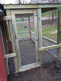 chicken coop door pully systems | What the coop looks like ...