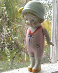 Vintage Bisque Carnival Doll. Hand Painted by FrontStreetAntiques, $25.00