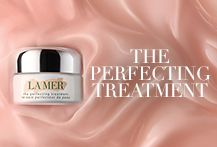 Better than bare—apply #ThePerfectingTreatment before your favorite La Mer moisturizer for a luminous nude glow.