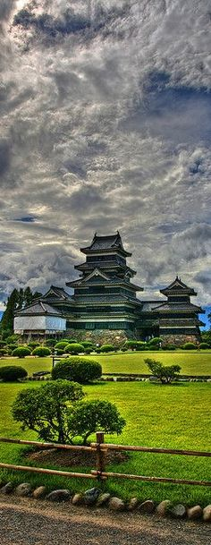 Matsumoto castle gardens, Japan