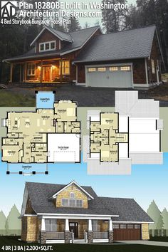 Architectural Designs House Plan 18280BE comes to life in Washington! 4BR | 3BA | 2,200+SQ.FT. | Ready when you are. Where do YOU want to builidl? #18280be #adhouseplans #architecturaldesigns #houseplan #architecture #newhome #newconstruction #newhouse #homedesign #dreamhome #dreamhouse #homeplan #architecture #architect #craftsmanhouse #craftsmanplan #craftsmanhome #bungalow #bungalowhouse #bungalowhome